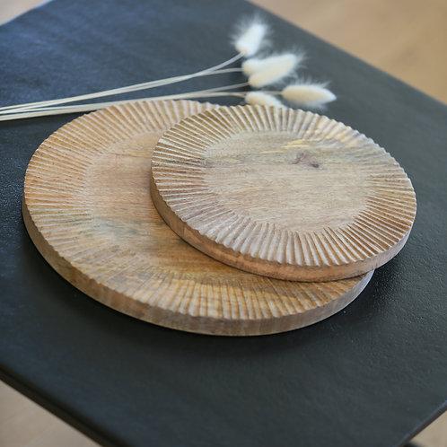 Planche ronde en manguier - 2 tailles