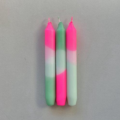 Trio bougies fluo - 5 modèles