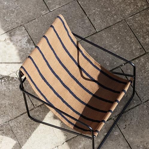 Fauteuil lounge Stripe / Noir