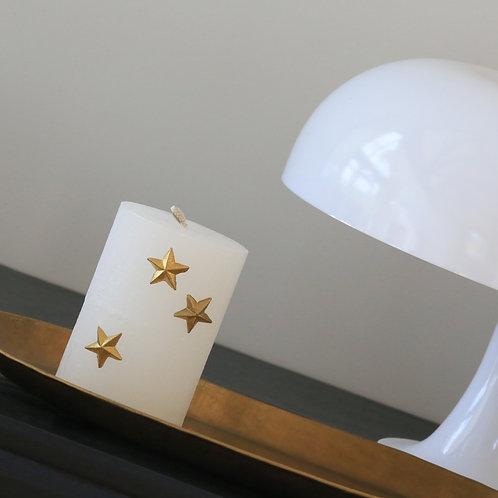 Bijoux de bougies - trio d'étoiles