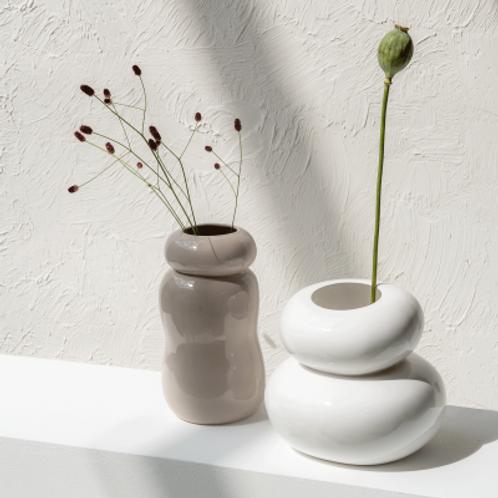 """Vase """"bubble"""" blanc"""