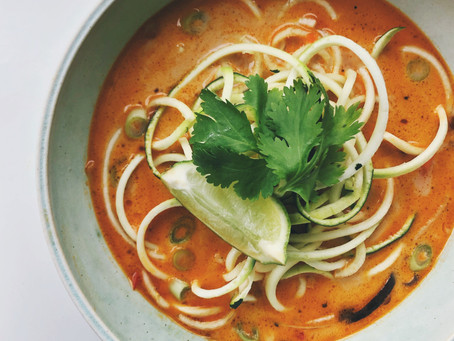 Coconut Curry with Zucchini noodles