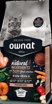 Ownat Ultra Chicken&Rice 1.5Kg - Pienso para Gatos