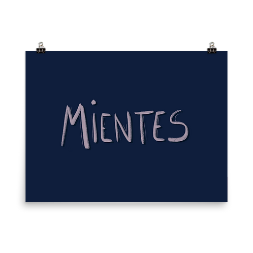 Poster Mientes