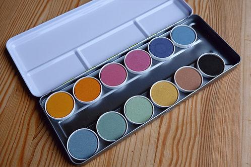 okoNORM Nawaro Watercolour paint box in metal case