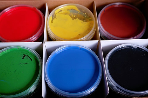 Nawaro finger paints - 6 colour set