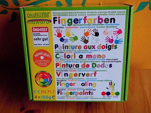 Nawaro finger paints - 4 colour set