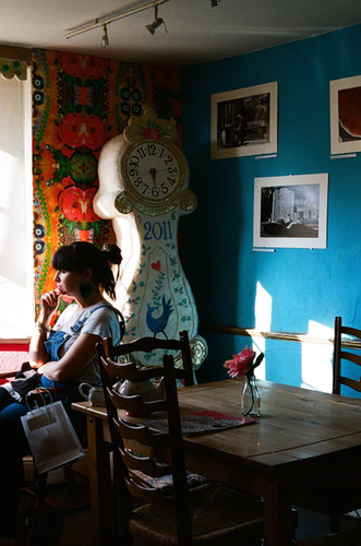 upstairs in the blue room