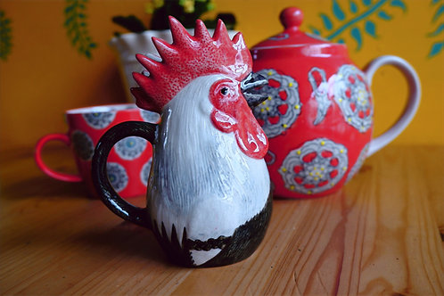 Dorking cockerel jug