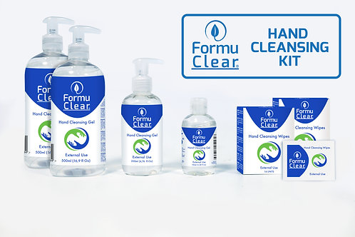 FORMUCLEAR HAND CLEANSING KIT WITH WIPES