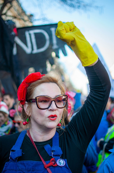 Rosie en manifestation