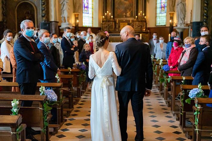 Mariage dans l'église
