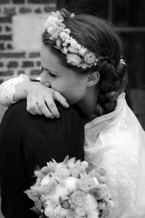 Etreinte des mariés