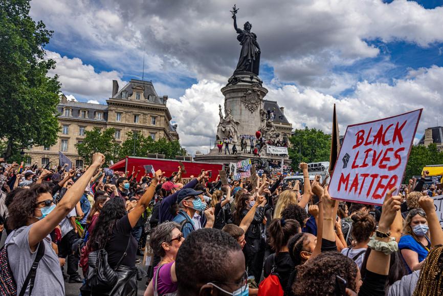 Black Lives Matter à la Place de la République