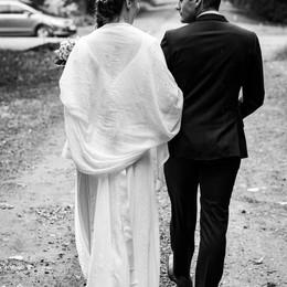 Le couple marié s'en va