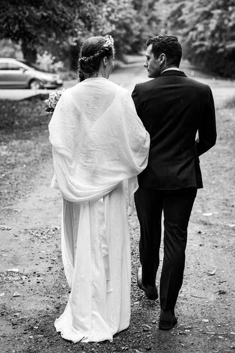 Les mariés s'en vont