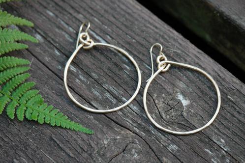 14k Gold Filled Round Hoop Earrings