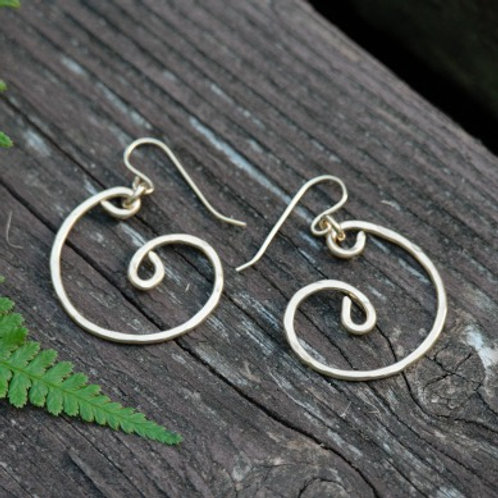 Nautilus Drop Gold Hoops