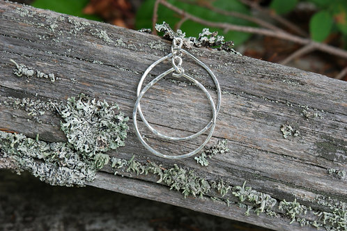 Round  Italian Sterling Silver Hoops