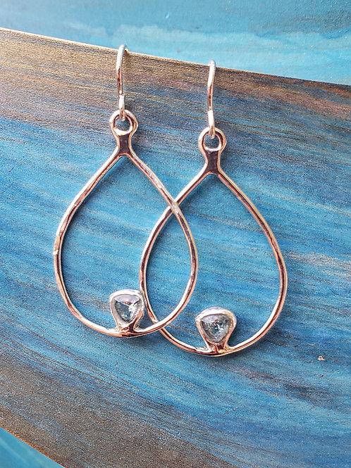 Lavaline Small Gemstone Hoops