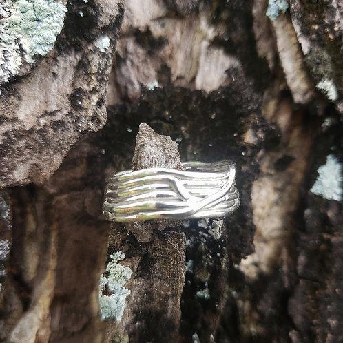 Thin Lava Line Rings