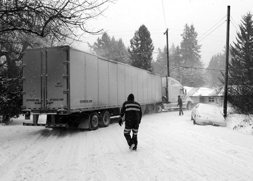 Truck in the winter