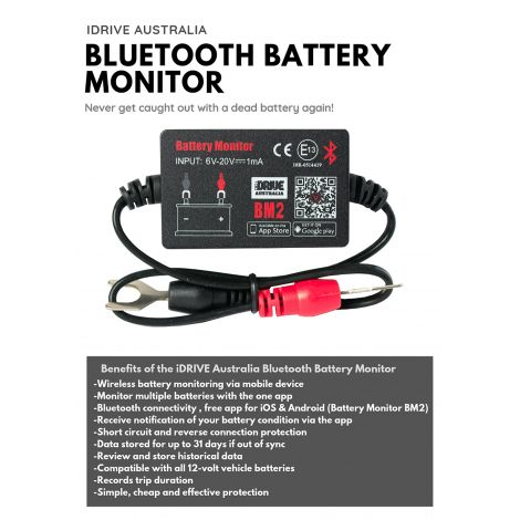 iDrive Bluetooth Battery Monitor