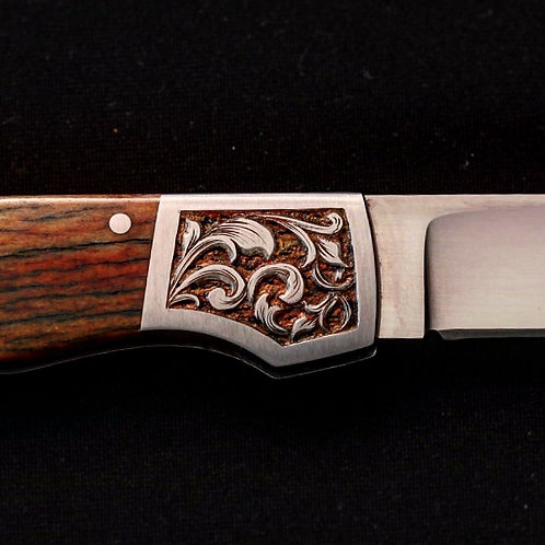 Hand Engraved Knife W/Giraffe Bone