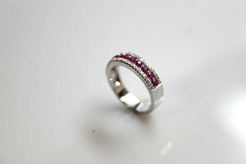 Anniversary Ring with Rubies & Diamonds