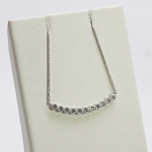 Bar Necklace With Diamonds