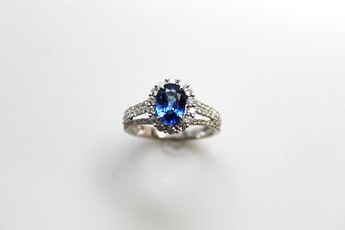 Sapphire Ring w/Diamonds