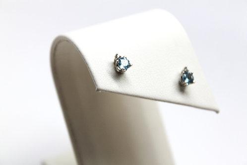 Aqua Stud Earrings