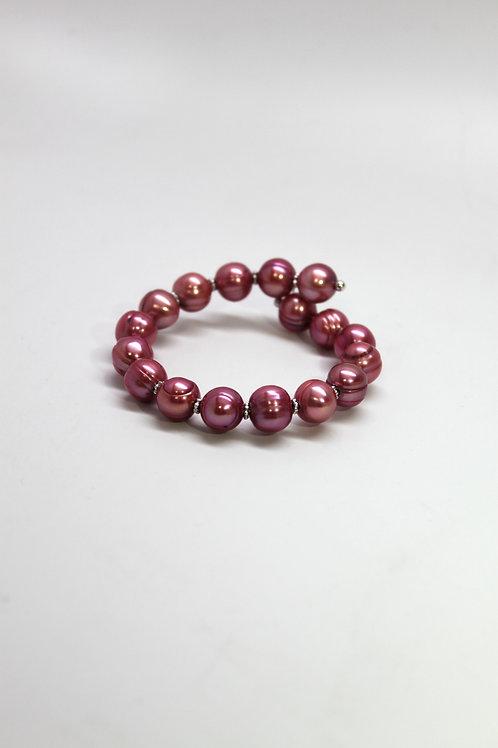 Plum Pearl Bracelet