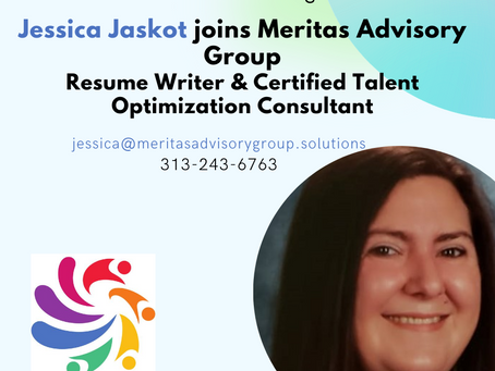 Meritas Advisory Group Resume Writing team is growing - welcome Jessica Jaskot