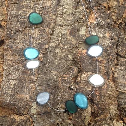 Origin Spaced Pebble Necklace