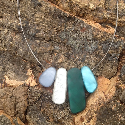 Origin Green & Blue Stacked necklace