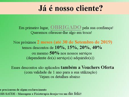 Descontos para si (dos 10-50%) e para quem você cuida (Voucher Oferta)!