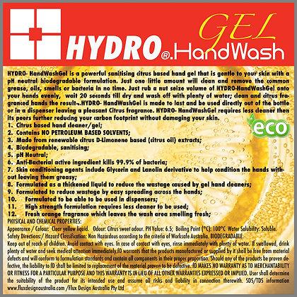 2x HYDRO SANITISING HandWash GEL 1 liter