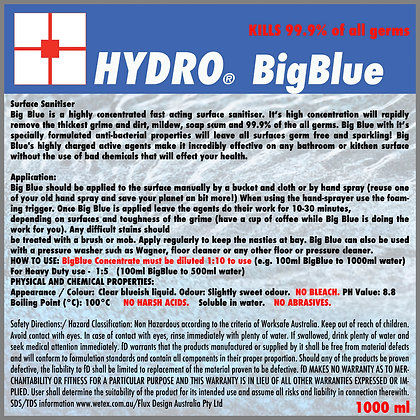 2x HYDRO BigBlue concentreted Sanitiser