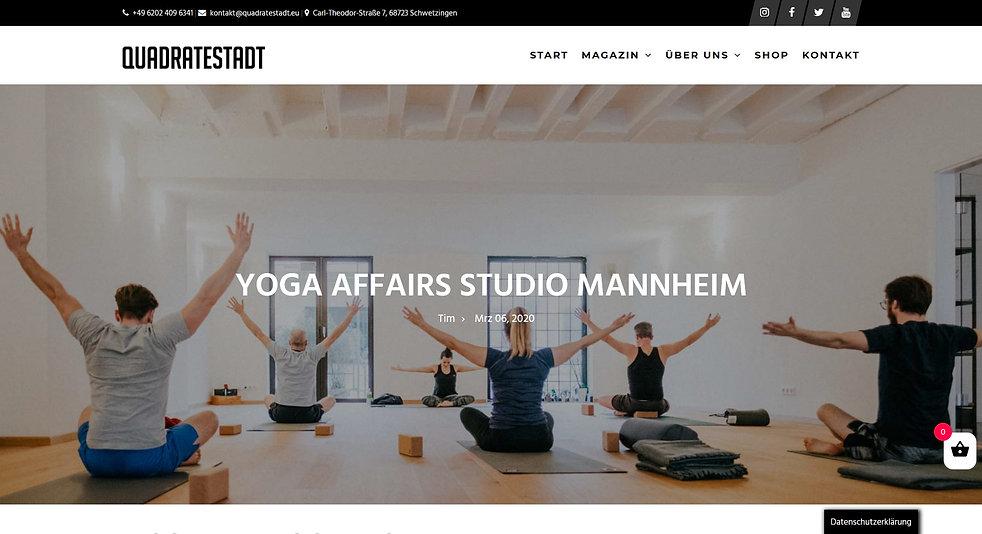 Quadratestadt Manheim Onlne Magazin Yoga Affairs
