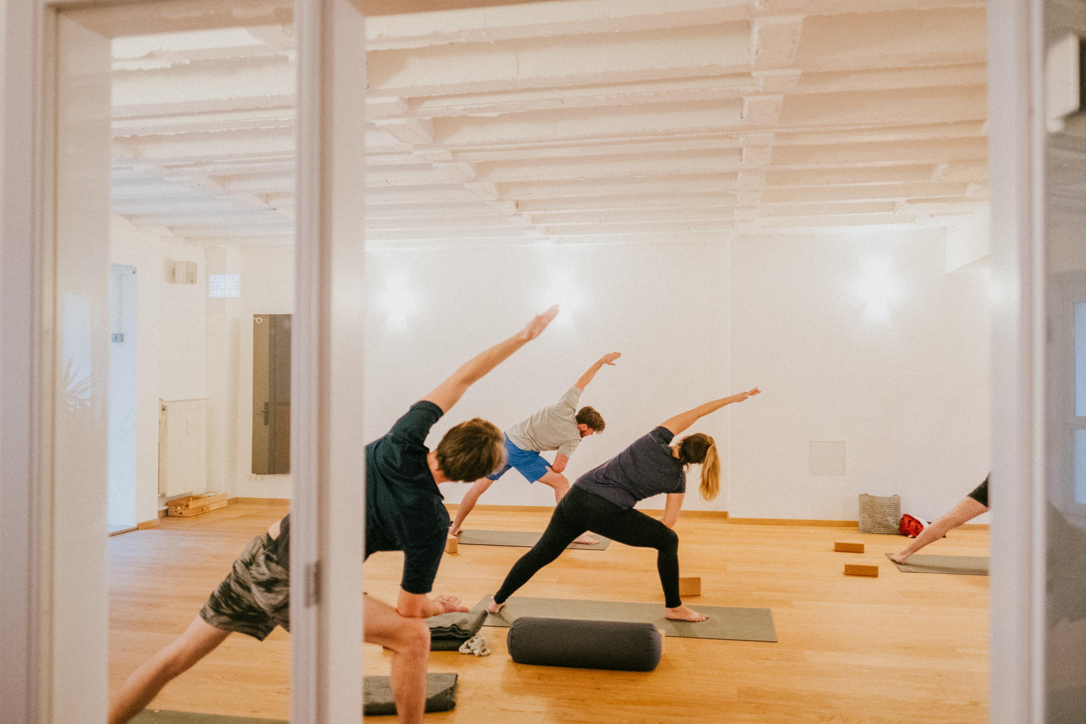 Blick in den Yogaraum