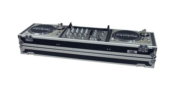 Technics 1200 turntables/DJ Mixer/coffin