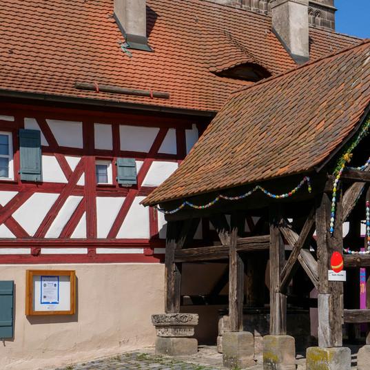 Brunnenhäuschen Markt