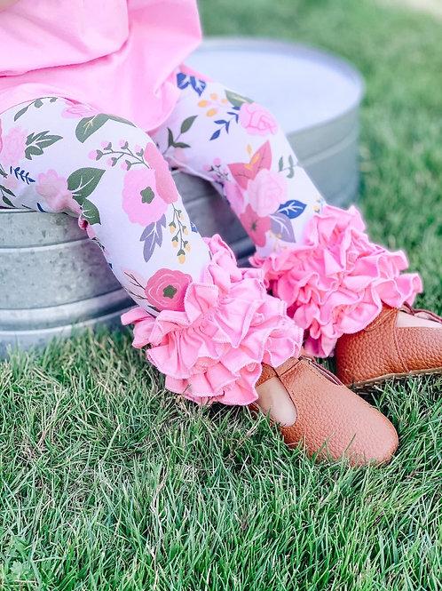 Pink floral icings