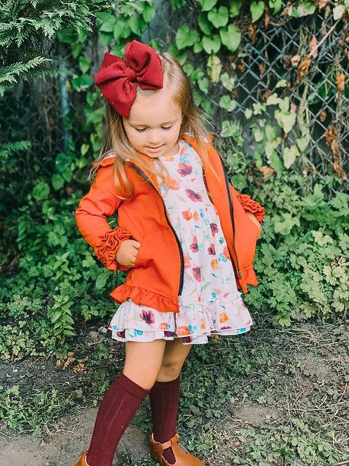 Pumpkin ruffle jacket