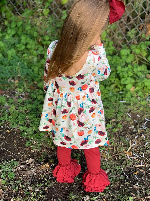 Scoop back floral tunic