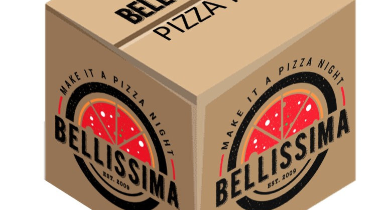 BELLISSIMA Kit - 4 Pizzas with 2 starter, 2 sides, + 4 drinks (FREE DELIVERY)