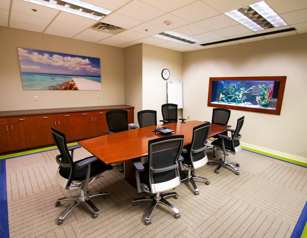 Meeting Room In-Wall Aquarium