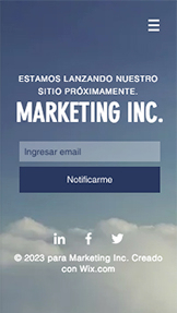 Comunicación y Marketing plantillas web – Lanzamiento de Marketing