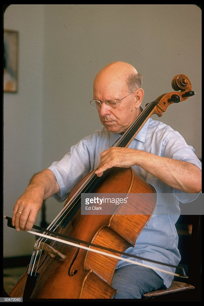 Cellist Pablo Casals playing instrument. (Photo by Ed Clark/The LIFE Picture Collection/Getty Images)